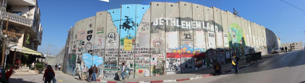 Mauer in Bethlehem als Panoramabild