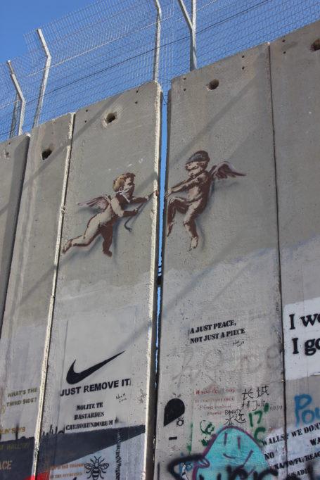Die Mauer als Projektionsfläche himmelwärts
