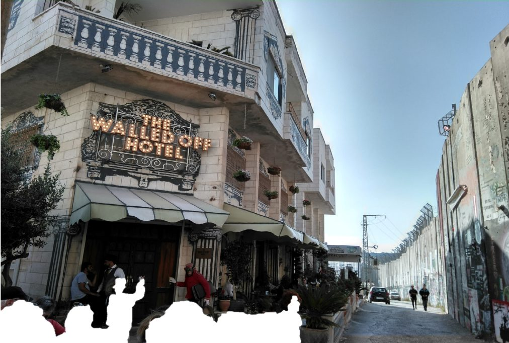 The Walled Off Hotel in Bethlehem and the Separationwall